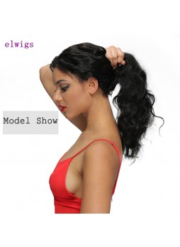 Elwigs Pre Plucked 360 Lace Frontal With Baby Hair 100% indian Remy Human Hair body wave Natural Black 10-22inch