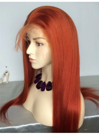 2-3 days  Full lace wig pre plucked hair line baby hair color 350 100% human hair 8A + quality straight