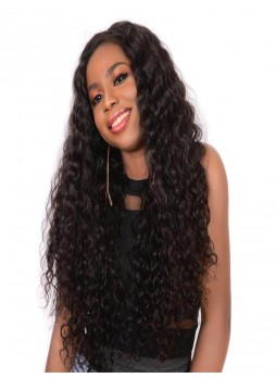 2-3 days  Full lace wig pre plucked hair line baby hair natural color  bleached knots 100% human hair  8A  quality deep wave