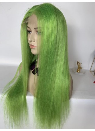 2-3 days  Full lace wig pre plucked hair line baby hair color green 100% human hair 8A + quality straight