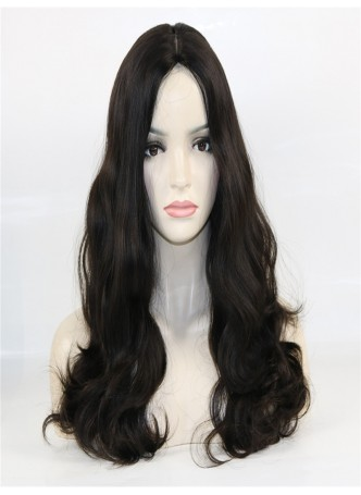 Jewish wig big layer silk base european virgin hair 20 inches all the hair length same