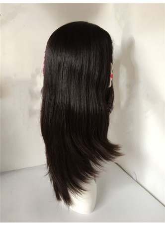 Jewish wig big layer silk base european virgin hair 16inches all the hair length same