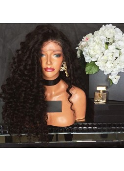 Pre plucked L part Lace front wig baby hair around kinky curl  middle parting or right parting