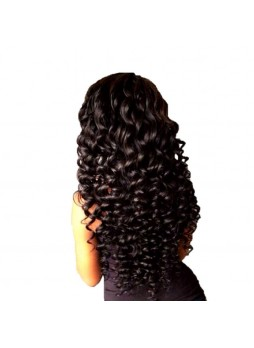 3 bundles with hair closure indian remy hair loose wave