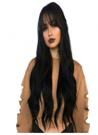 Lace front wig pre plucked hair line baby hair natural color  bleached knots 100% human hair 8A + quality straight with bang