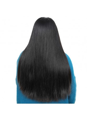 Pre plucked hair line Lace front  wig indian remy hair  straight with baby hair
