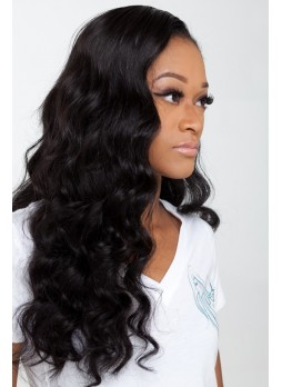 Pre plucked hair line Lace front  wig indian remy hair  body wave with baby hair