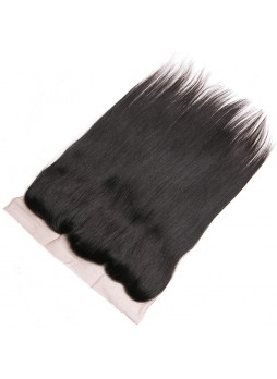 130% Density Free Part Human Hair Natural Hairline  Straight Hair 13x4 Ear to Ear Lace Frontal