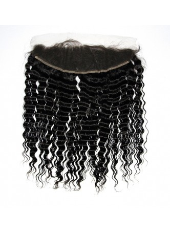 130% Density Free Part Human Hair Natural Hairline  deep wave  Hair 13x4 Ear to Ear Lace Frontal