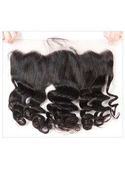 130% Density Free Part Human Hair Natural Hairline loose wave Hair 13x4 Ear to Ear Lace Frontal