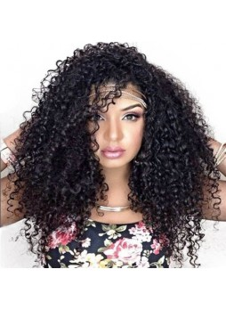 Full lace wig Brazilian virgin hair kinky curl baby hair free style