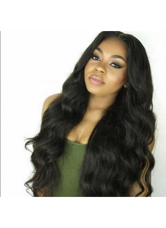 Full lace wig Brazilian virgin hair body wave  baby hair free style