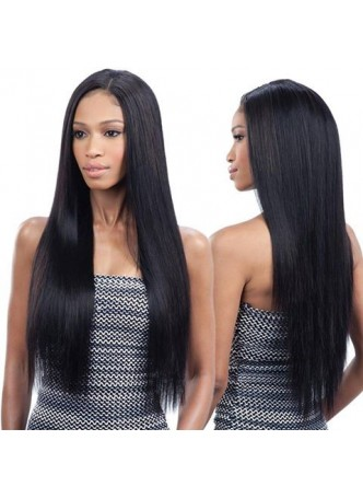 Full lace wig Brazilian virgin hair straight baby hair free style